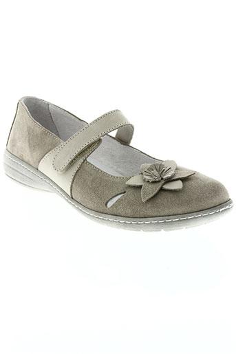 la plume chaussures femme de couleur gris