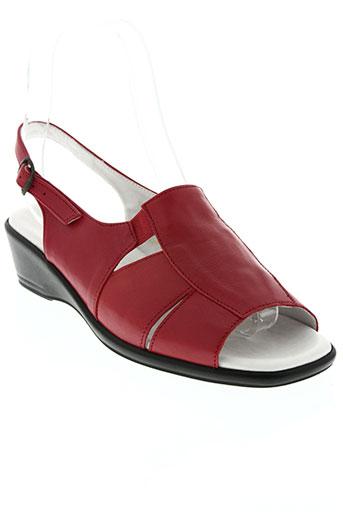 lucy style chaussures femme de couleur rouge