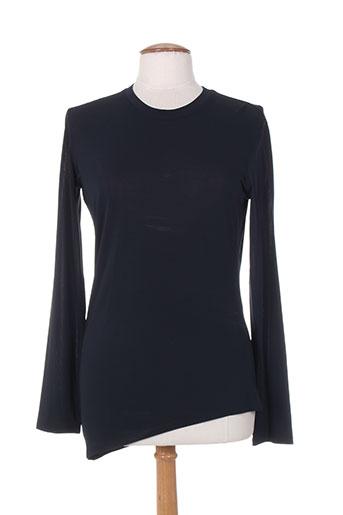 sportmax t-shirts femme de couleur bleu