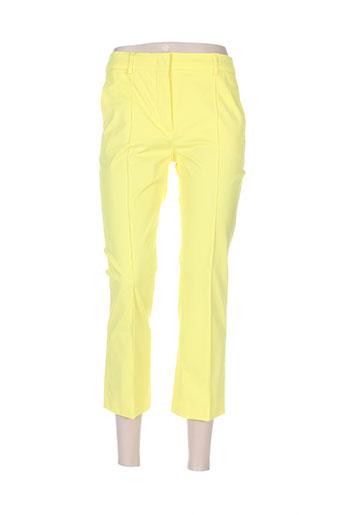 sportmax pantacourts femme de couleur jaune