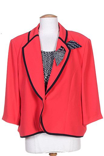 Veste chic / Blazer rouge ASPECT CREATION pour femme