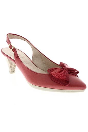 hispanitas chaussures femme de couleur rouge