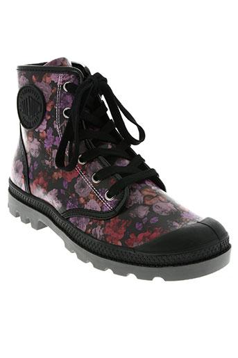 palladium chaussures femme de couleur violet