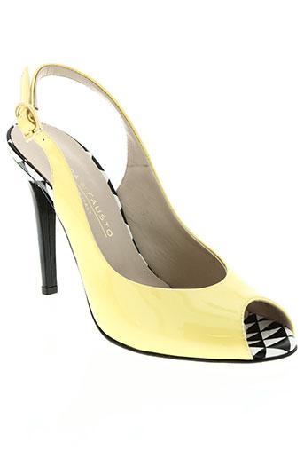 moda di fausto chaussures femme de couleur jaune