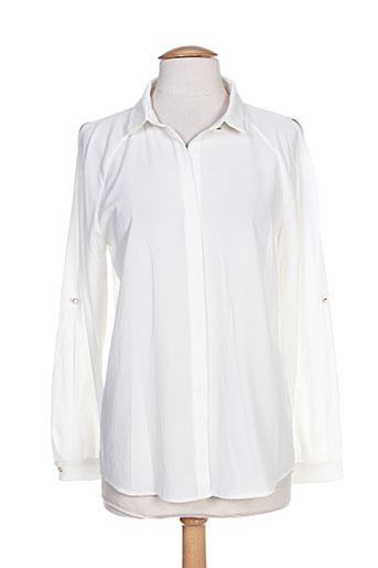 amz chemises femme de couleur blanc