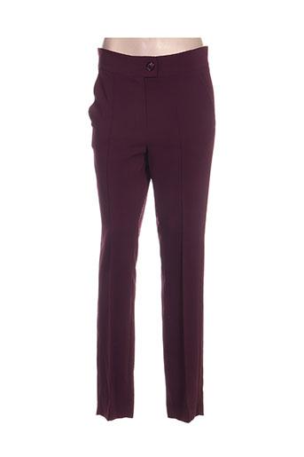 amz pantalons femme de couleur violet