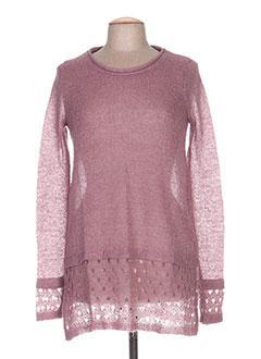 Pull tunique rose G!OZE pour femme