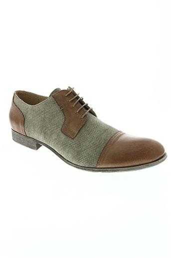 hexagone chaussures homme de couleur vert