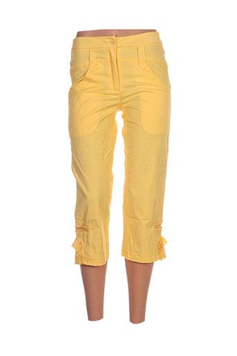 l33 pantacourts femme de couleur jaune