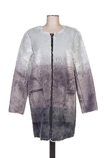Manteau long gris ELEVEN PARIS pour femme