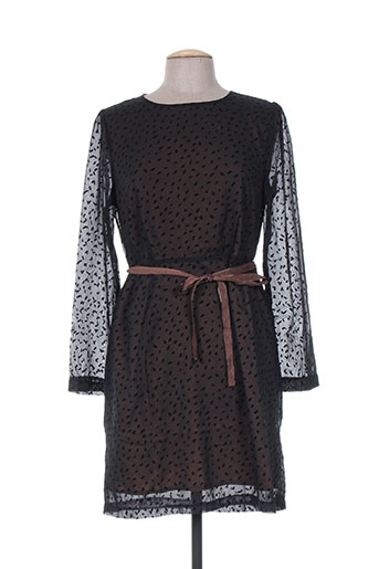 Robe mi-longue noir BONSUI pour femme