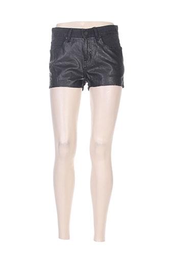 eleven paris shorts / bermudas femme de couleur noir