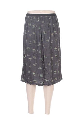 Jupe mi-longue gris COZETE pour femme