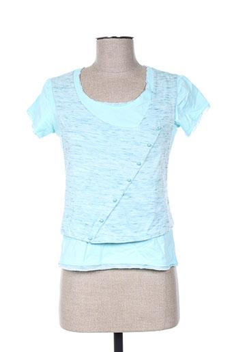anne turtaut chemises femme de couleur bleu