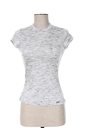 T-shirt manches courtes gris ANNE TURTAUT pour femme
