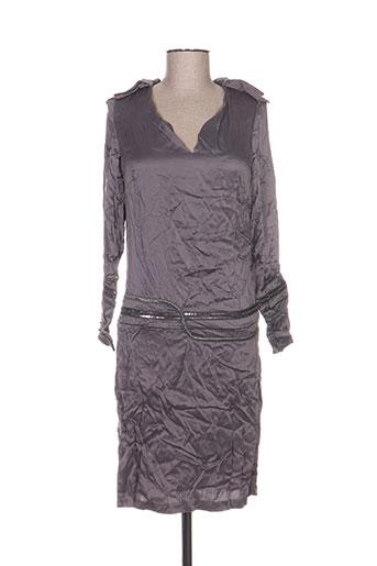 Robe mi-longue gris ANNE TURTAUT pour femme