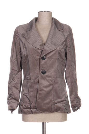 anne turtaut vestes femme de couleur marron