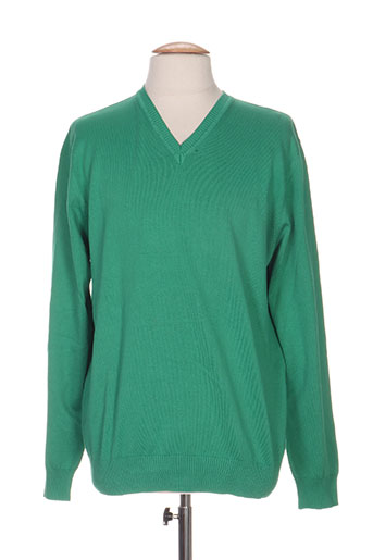 Pull col V vert IMPACT pour homme