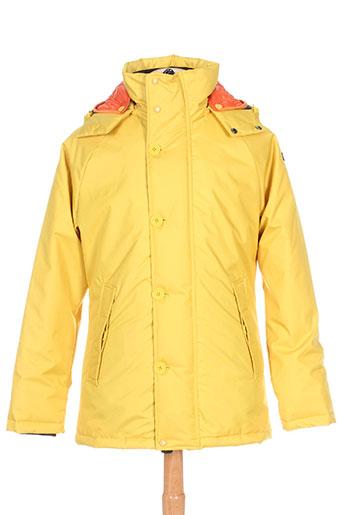 brekka manteaux homme de couleur jaune
