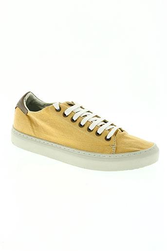 satorisan chaussures homme de couleur jaune