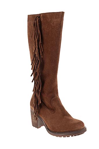 apple of eden chaussures femme de couleur marron