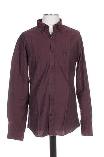 Chemise manches longues violet SELECTED pour homme