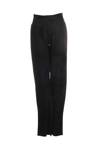 la canadienne pantalons femme de couleur noir