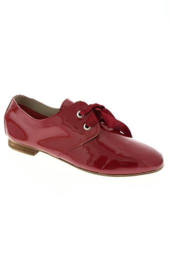 coco et abricot chaussures femme de couleur rouge