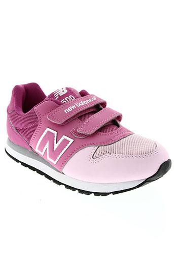 new balance chaussures fille de couleur rose