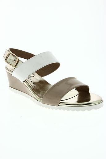 bz bis chaussures femme de couleur beige