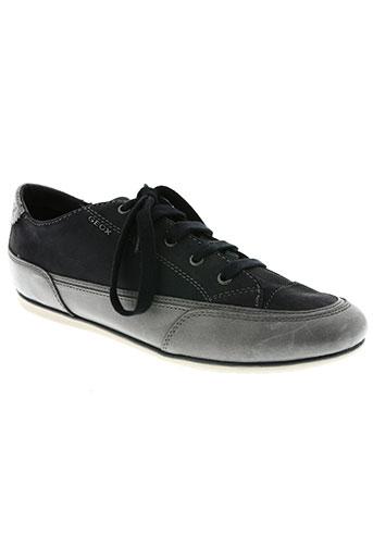 geox chaussures femme de couleur bleu