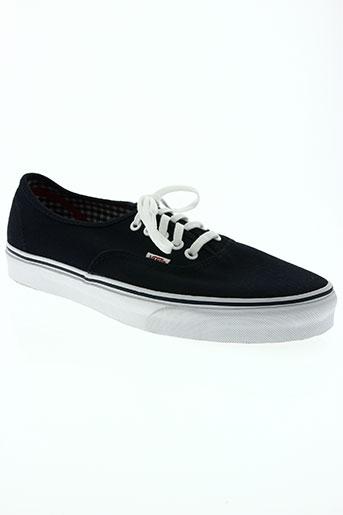vans chaussures homme de couleur bleu