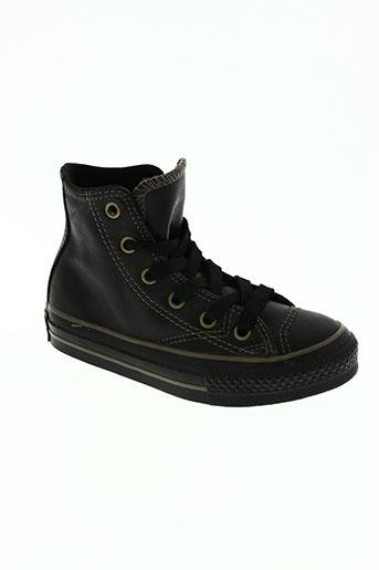 converse chaussures enfant de couleur noir