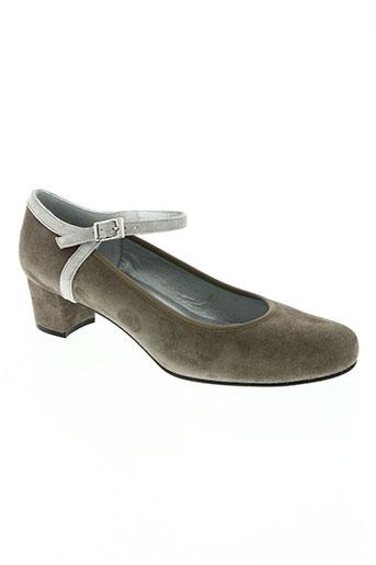 brenda zaro chaussures femme de couleur gris