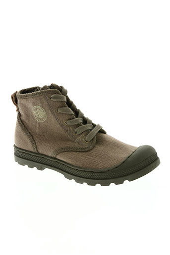 palladium chaussures garçon de couleur marron
