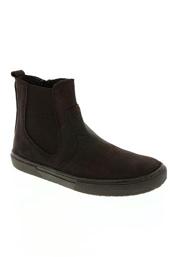 ubik chaussures garçon de couleur marron