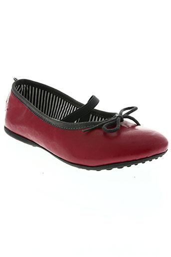 petit bateau chaussures fille de couleur rouge