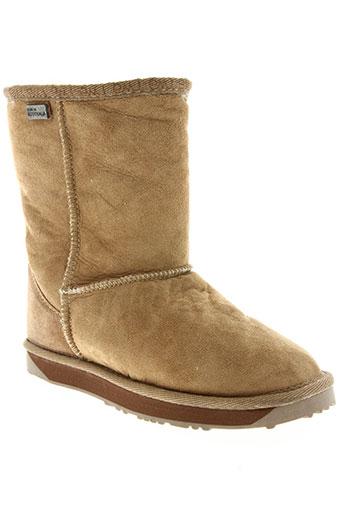 emu australia chaussures femme de couleur marron