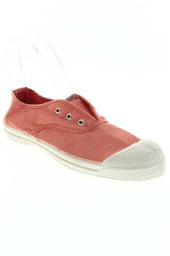 bensimon chaussures enfant de couleur orange