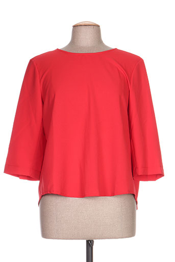 clarence et jude chemises femme de couleur rouge