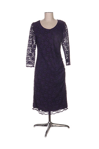 Robe mi-longue violet CONCEPT K pour femme