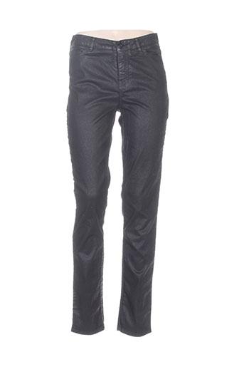 elemente clemente pantalons femme de couleur noir