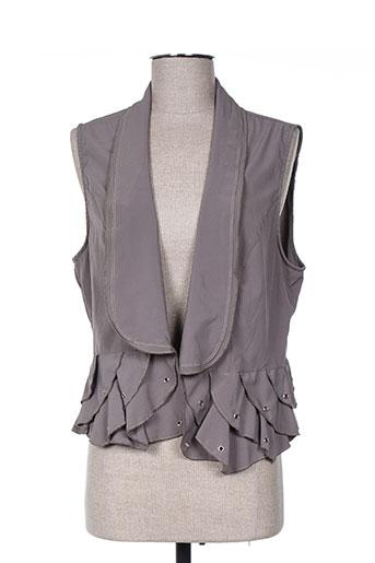 Veste chic / Blazer gris ARELINE pour femme