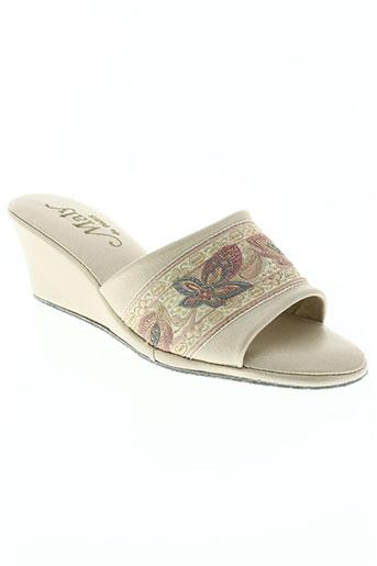 maly de paris chaussures femme de couleur beige
