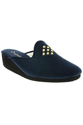 exquise chaussures femme de couleur bleu