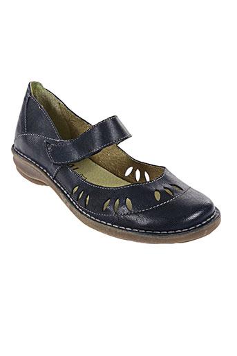 chacal chaussures femme de couleur bleu