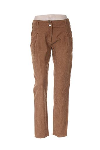 jacqueline riu pantalons femme de couleur marron