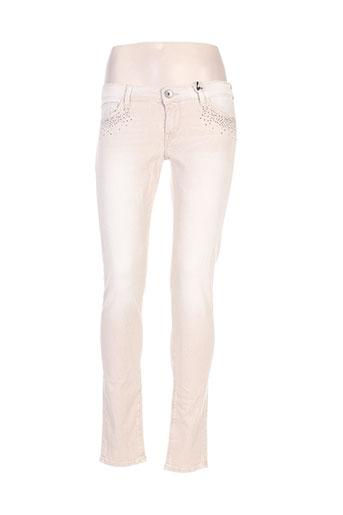 guess jeans femme de couleur beige