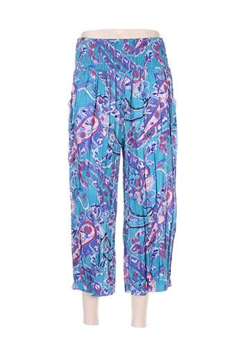 Pantalon casual bleu ALLER SIMPLEMENT pour femme