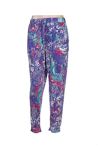 colline pantalons femme de couleur violet